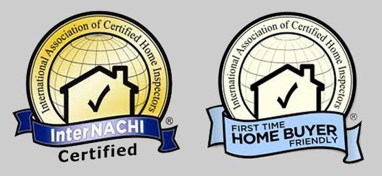 International Association of Certified Home Inspectors InterNACHI certified logo and InyrtNACHI First Time Home Buyer Friendly Logo