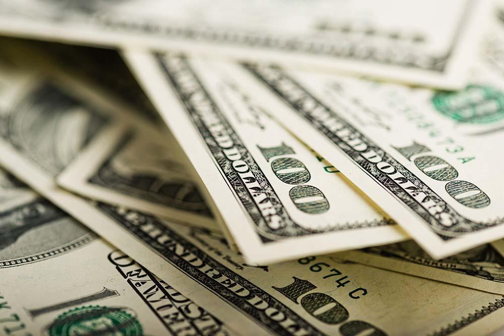Loan money dollar bills